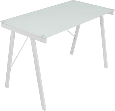 LumiSource Standard Exponent Desk, White (OFD-TM-PBLNK W)