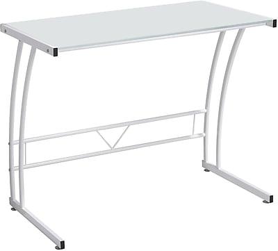 LumiSource Sigma Standard Workstation Desk, White (OFD-TM-BITSGL W)