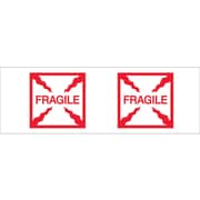 "Tape Logic® Pre-Printed Carton Sealing Tape, ""Fragile (Box)"", 2"" x 55 yds., Red/White, 36/Case"