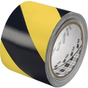 "3M™ 766 Striped Vinyl Tape, 3"" x 36 yds., Black/Yellow, 2/Case"