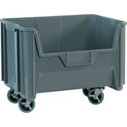 "BOX 19 7/8"" x 15 1/4"" x 12 7/16"" Mobile Giant Stackable Bin, Gray"