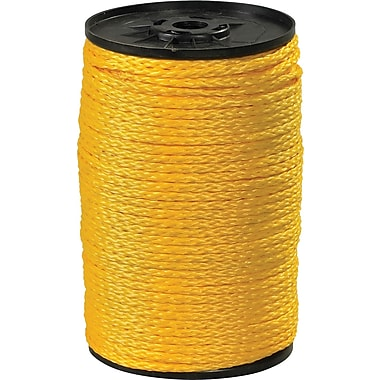 BOX 2100 lbs. Hollow Braid Polypropylene Rope, 1000'