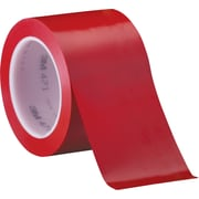 "3M™ 471 Vinyl Tape, 3"" x 36 yds., Red, 3/Case"