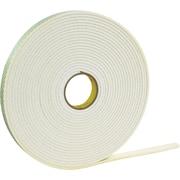 """3M™ 1/2"""" x 72 yds. Double Coated Polyethylene Foam Tape 4462, White"""
