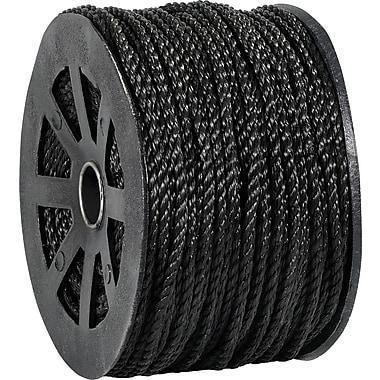BOX 2450 lbs. Twisted Polypropylene Rope, Black, 600'
