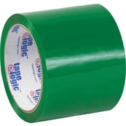 "Tape Logic™ 3"" x 55 yds. Green Carton Sealing Tape, 24/Case"