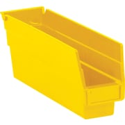 "BOX 11 5/8"" x 2 3/4"" x 4"" Plastic Shelf Bin, Yellow"