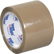 "Tape Logic™ 3"" x 55 yds. Acrylic Tape, Tan, 24/Case"