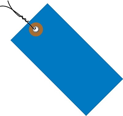 """Tyvek® 4 1/4"""" x 2 1/8"""" Pre-Wired Shipping Tag, Blue, 100/Case"""