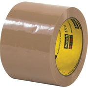 "3M™ 3"" x 110 yds. Tan Carton Sealing Tape 371, 24/Case"