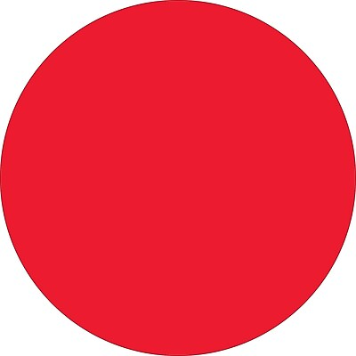 """Tape Logic™ 1 1/2"""" Circle Inventory Label, Fluorescent Red, 500/Roll"""