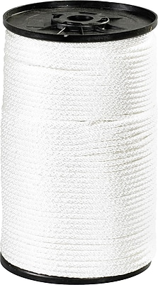 BOX 320 lbs. Solid Braided Nylon Rope, White, 500'