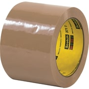 "3M™ 3"" x 55 yds. Tan Carton Sealing Tape 371, 24/Case"