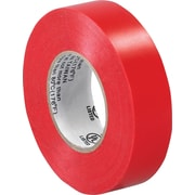 "Tape Logic™ 3/4""(W) x 20 yds(L) Vinyl Electrical Tape, Red, 10/Case"