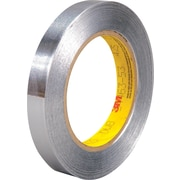 """3M™ 1/2"""" x 60 yds. Aluminum Foil Tape 425, Silver, 72/Case"""