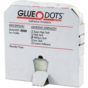 "Glue Dots®, Medium Tack, Low Profile, 1/4"", Clear, 4000/Roll"