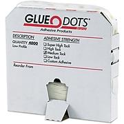 "Glue Dots® 1/4"" Medium Tack Glue Dots, Low Profile, 4000/Case"