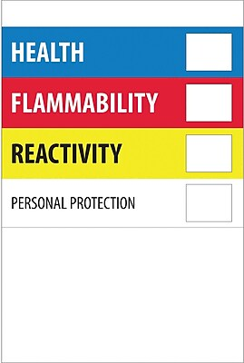 Tape Logic™ Health Flammability Reactivity Regulated Label, 4