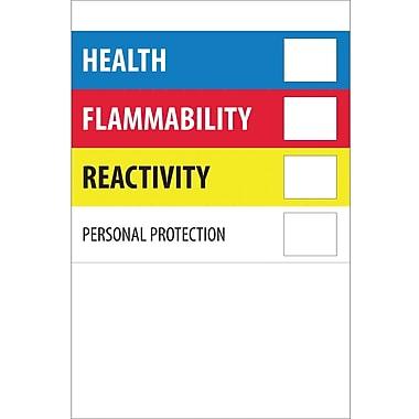Tape Logic™ Health Flammability Reactivity Regulated Label, 2