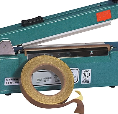 BOX 4'' x 18 yds. x 3 mil PTFE Glass Cloth Tape, 1/Pack