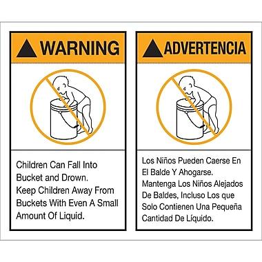 Tape Logic™ Warning/Advertencia Regulated Label, 5