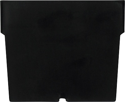 BOX Black Plastic Shelf Bin Divider, 5 1/4
