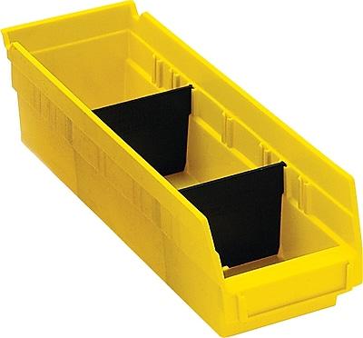 BOX Black Plastic Shelf Bin Divider, 2 7/8
