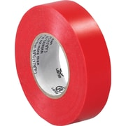 "Tape Logic™ 3/4""(W) x 20 yds(L) Vinyl Electrical Tape, Red, 200/Case"