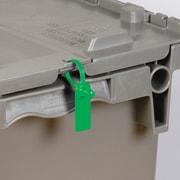 """BOX 5"""" Plastic Gemini Tote Seal, Green"""
