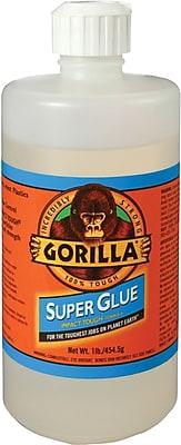 Gorilla® Super Glue, 16 oz., Translucent, 1/Case