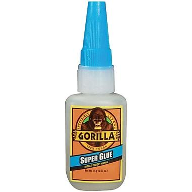 Gorilla® Super Glue, .5 oz., Translucent, 4/Case
