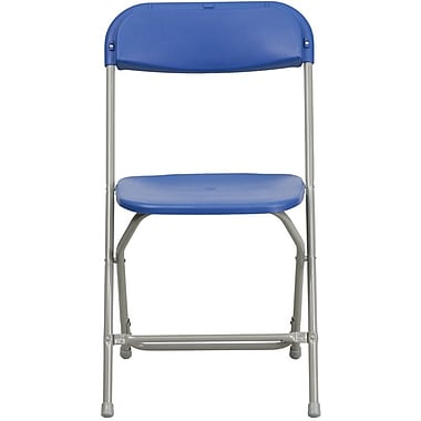 Flash Furniture HERCULES Series 440 lb. Capacity Premium Plastic Folding Chair, Blue, 60/Pack