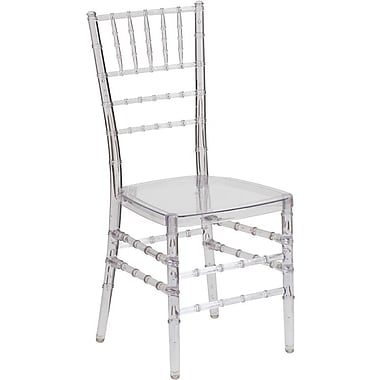 Flash Furniture Elegance Crystal Ice Stacking Chiavari Chair, 10/Pack