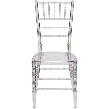 Flash Furniture – Chaise Chiavari empilable Elegance, translucide, 20/paquet