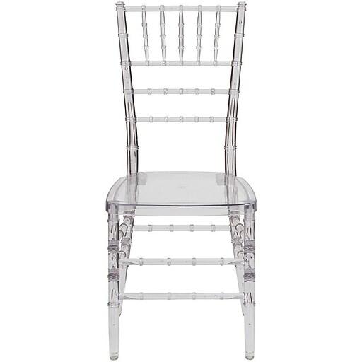 Flash Furniture Elegance Crystal Ice Stacking Chiavari Chair, 20/Pack