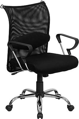 Flash Furniture Mesh Managers Office Chair, Fixed Arms, Black (BT2905)