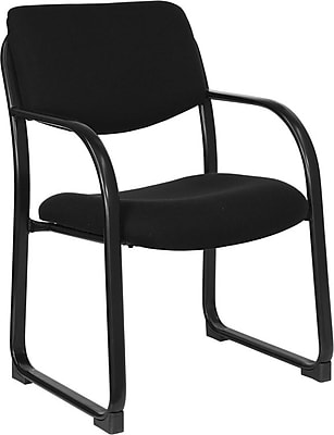 Flash Furniture Fabric Executive Office Chair, Fixed Arms, Black (BT508BK)