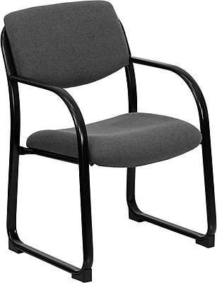 Flash Furniture Mid Back Fabric Executive Side Chair, Gray