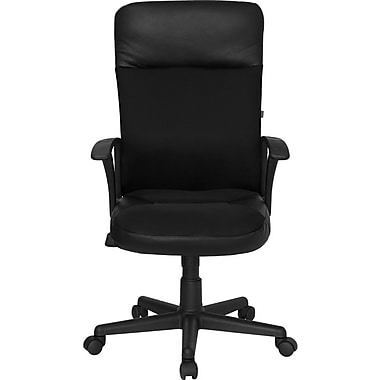 Flash Furniture High-Back Leather Exec Chair, Black
