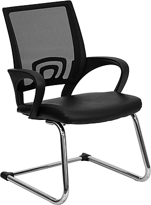 Flash Furniture LeatherSoft Leather Executive Office Chair, Fixed Arms, Black (CPD119A01BK)