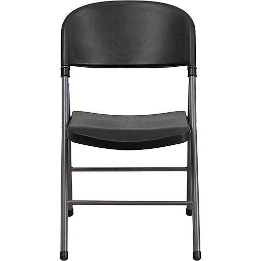 Flash Furniture HERCULES™ Plastic Armless Folding Chair, Black, 36/Pack