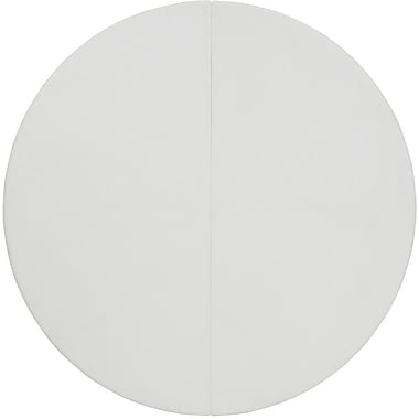 Flash Furniture – Table pliante ronde en plastique, 60 po dia., blanc granite, 25/paquet