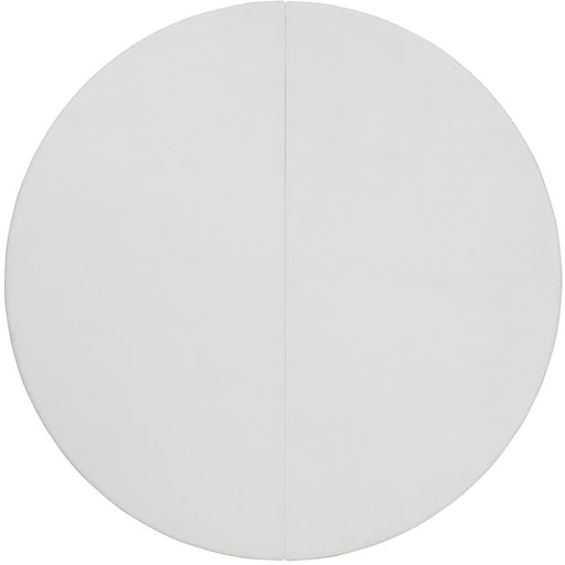 Flash Furniture 60'' Round Folding Plastic Table, Granite White, 25/Pack