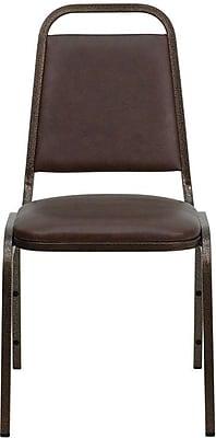 Flash Furniture FDBHF2BKVYL Vinyl/Steel Banquet Chair, Brown