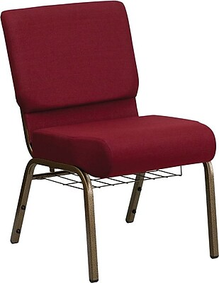 Flash Furniture HERCULES™ Fabric Church Chair With 4