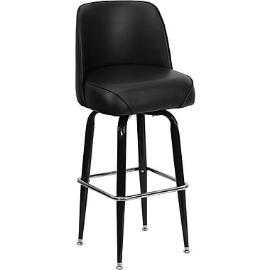Flash Furniture Metal Bar Stool With Swivel Bucket Seat, Black