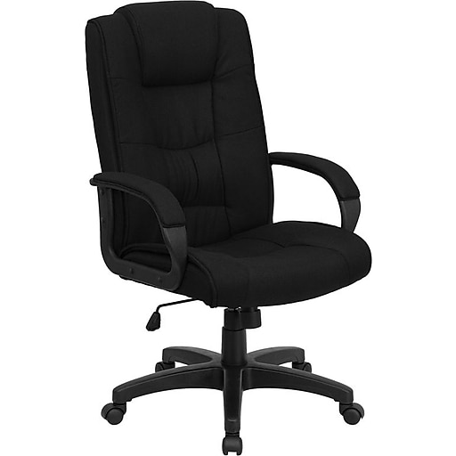shop flash furniture go5301bbk executive chair black at staples com