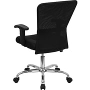 Flash Furniture Mid-Back Mesh Task Chair, Adjustable Arms, Black