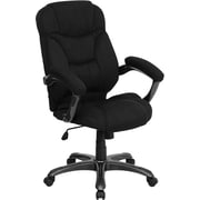 Flash Furniture Fabric Executive Office Chair, Fixed Arms, Black (GO725BK)