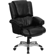 Flash Furniture LeatherSoft Leather Executive Office Chair, Fixed Arms, Black (GO958BK)